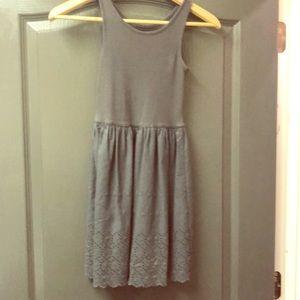 Girls Grey Tank Dress